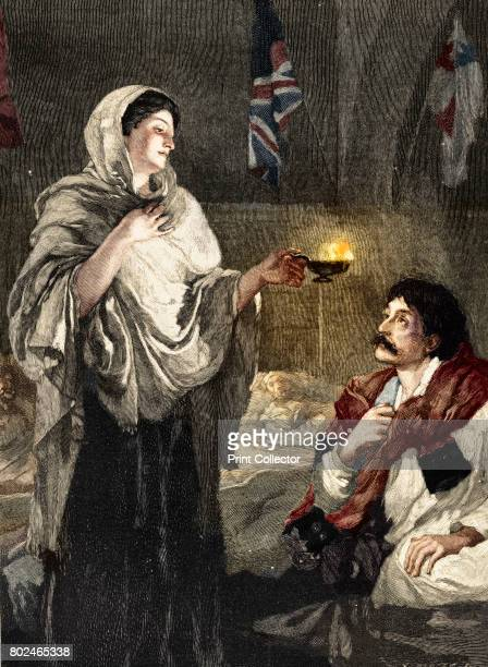 The Lady with the Lamp' c1880 Florence Nightingale doing her night rounds in the British military hospital at Scutari In 1854 during the Crimean War...