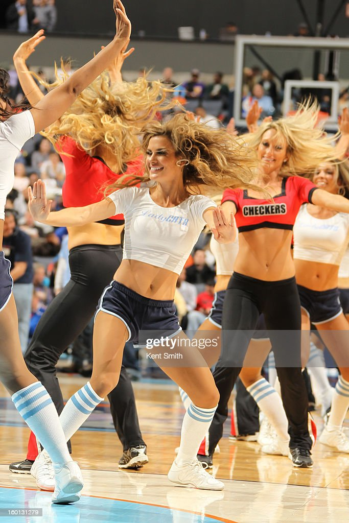 The LadyCats of the Charlotte Bobcats perform during the game against the Minnesota Timberwolves at the Time Warner Cable Arena on January 26, 2013 in Charlotte, North Carolina.
