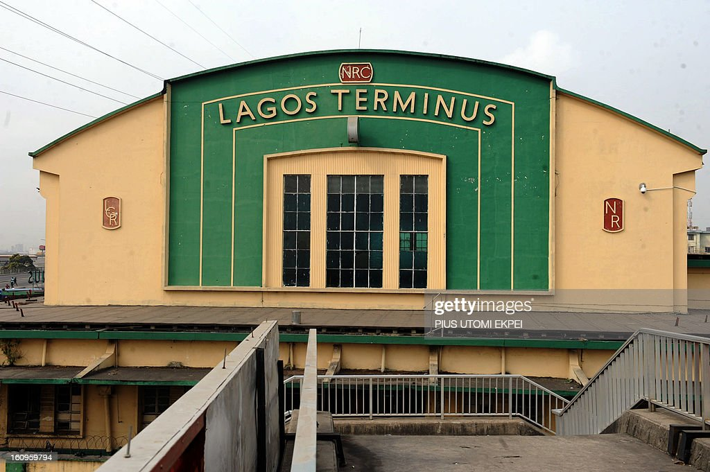 The Lagos Terminus of the Nigerian Railway Corporation on February 8, 2013. The rejuvenated Nigerian Railway Corporation has commenced operation of mass transit on the Lagos-Kano route, Nigeria's major commercial cities. The state-owned corporation which went into bankruptcy during the last 20 years due to lack of maintenance of infrastructure and high numbers of employees also began haulage of petroleum products from Lagos to the north of the country. Earlier last year, the Railway Corporation had acquired 20 pressurised tank wagons as it prepared to commence the fuel haulage. The 20 wagons have the capacity to lift 900,000 litres of petroleum products, the equivalent of 27 road tankers. AFP PHOTO/PIUS UTOMI EKPEI
