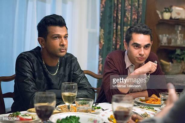 PROJECT 'The Lahiris and the Castellanos' Episode 411 Pictured Utkarsh Ambudkar as Rishi Lahiri Max Minghella as Richie Castellano