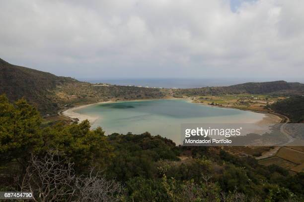 The lake of Venus located in the crater of an ancient volcano in the northern area of Pantelleria Tourists lave it because it's a thermal oasis where...