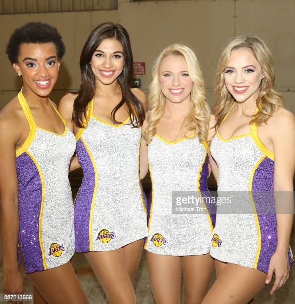The Laker Girls join Delta Air Lines in hosting 7th Annual 'Holiday In The Hangar' event held at LAX Airport on December 6 2017 in Los Angeles...