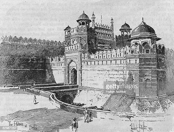 The Lal Quila or Red Fort on the banks of Jamuna in Delhi India circa 1900 The fort was built by the Mughal Emperor Shahjahan between 1638 and 1648