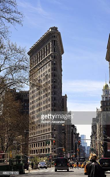 The landmark Flatiron Building on Fifth Avenue in New York City was completed in 1902 when it was considered a groundbreaking skyscraper