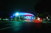 The landmark Staples Center in downtown Los Angeles (home to the NHL's Lakers, Kings and Clippers).