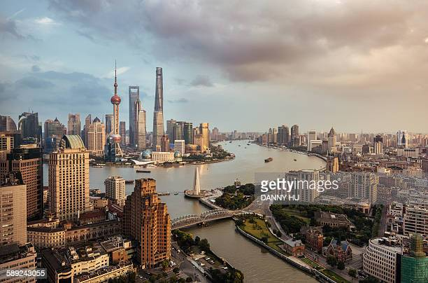 The landmarks of Shanghai