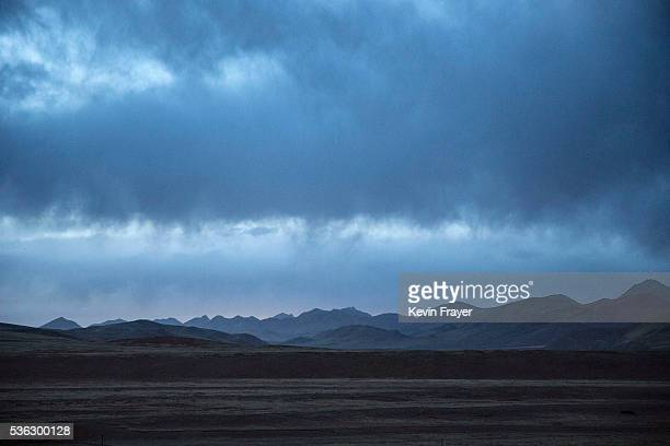 The landscape of the grasslands home to the prozed cordycep fungus is seen on May 23 2016 on the Tibetan Plateau near Zadoi in the Yushu Tibetan...