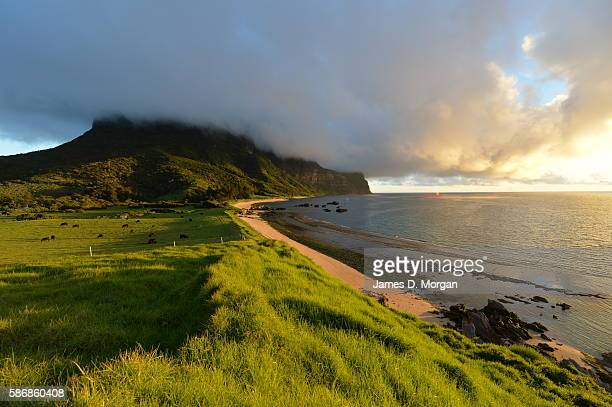 The landscape of the tiny island of Lord Howe part of New South Wales on January 27 2015 in Lord Howe Island Australia With amazing five star...