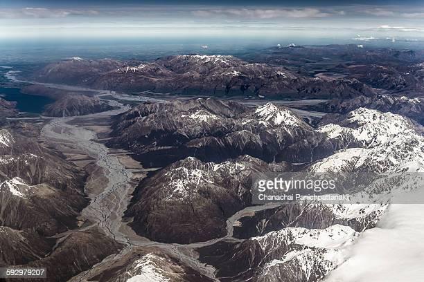 The landscape Terrain in South Island New Zealand