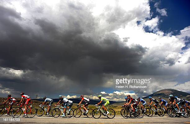 The large peloton heads makes their way towards Gunnison with thunderheads looming in the distance The Pro Cycling Challenge's stage 1 kicked off...
