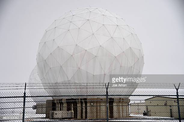 The large radomes at Buckley Air Force Base can be seen for miles and are huge from most areas on the base They are large geodesic domes that are...