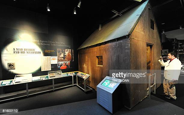 The largest artifact in the Newseum's first changing exhibition 'GMen and Journalists' is the 10by12foot cabin where Unabomber Theodore Kaczynski...