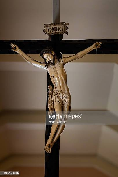 The largest Ivory crucifix in the Philippines located in the University of Santo Tomas Museum in Manila Philippines January 24 2012 The body of...