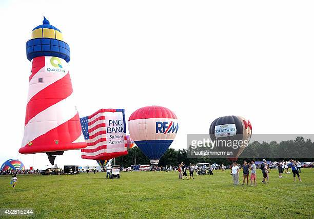 The largest summertime hot air balloon and music festival in North America the 2014 Quick Chek New Jersey Festival of Ballooning at Solberg Airport...