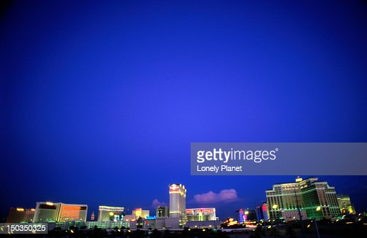 The Las Vegas skyline from the Rio Hotel and Casino. : Stock Photo