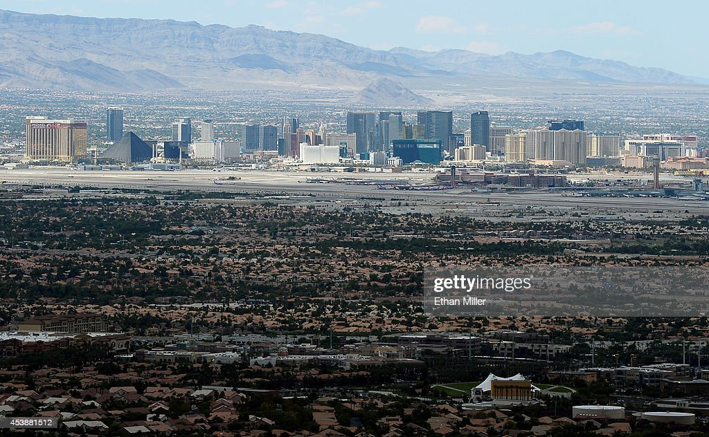 The Las Vegas Strip is seen from Ascaya, Nevada's premier luxury home development, on August 20, 2014 in Henderson, Nevada. Ascaya, featuring 313 luxury estate home sites nestled atop the McCullough Range, opened its sales center and began accepting reservations on Wednesday.