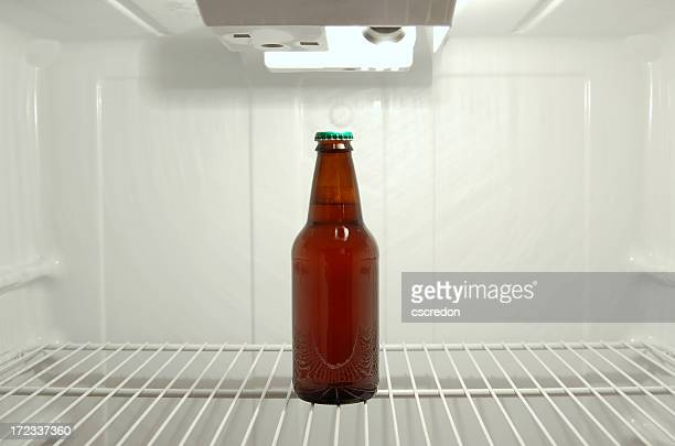 The last bottle of beer in the refrigerator