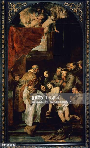 The Last Communion of St Francis by Peter Paul Rubens oil on panel 422x226 cm Belgium 17th century Antwerp Koninklijk Museum Voor Schone Kunsten