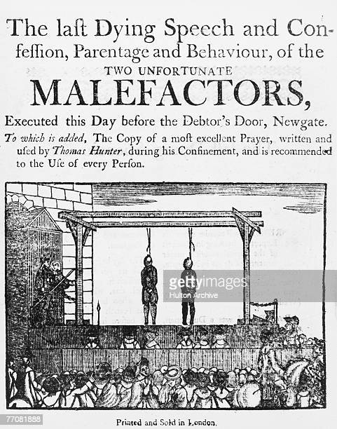 The last dying speech and confession parentage and behaviour of the two unfortunate malefactors executed this day before the Debtor's Door Newgate...