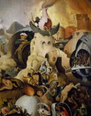 The Last Judgement ca 1554 painting by Pieter Huys oil on panel 133x100 cm Detail