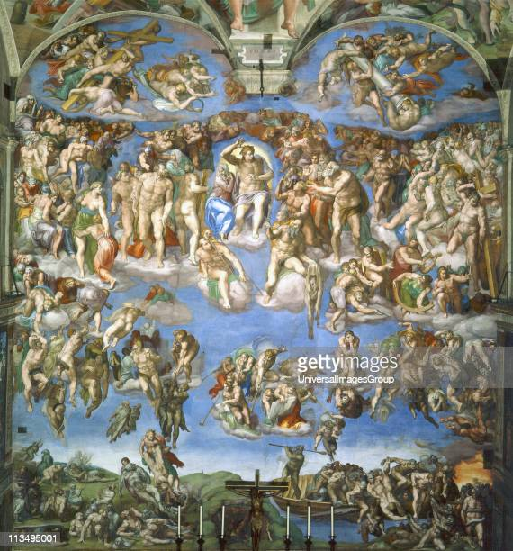 The Last Judgment painted by Michelangelo between 1536 and 1541 situated in the Vatican