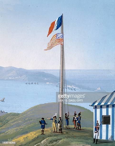The last lowering of the flag detail of the Cession of New Orleans to the United States 1803 Detail The United States 19th century