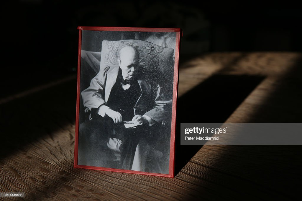 The last photograph taken of Winston Churchill, from January 1965, is displayed at Chartwell on January 23, 2015 in Westerham, England. The 'Death of a Hero' exhibition is opening at Chartwell, home of Britain's wartime leader Winston Churchill, to commemorate the 50th anniversary of his death and state funeral in 1965.