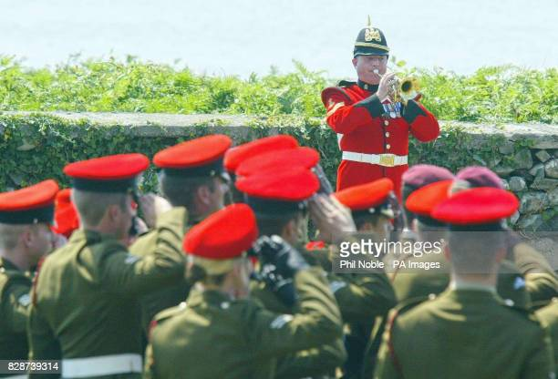 The Last Post is sounded outside St John's Church in Barmouth at the funeral service for Lance Corporal Thomas Keys Lance Corporal Keys a former...