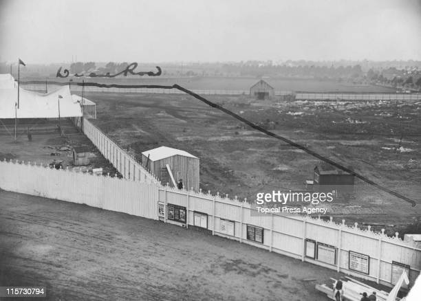 The last section of the route of the marathon race before it enters the White City Stadium during the 1908 Summer Olympics in London 8th July 1908...