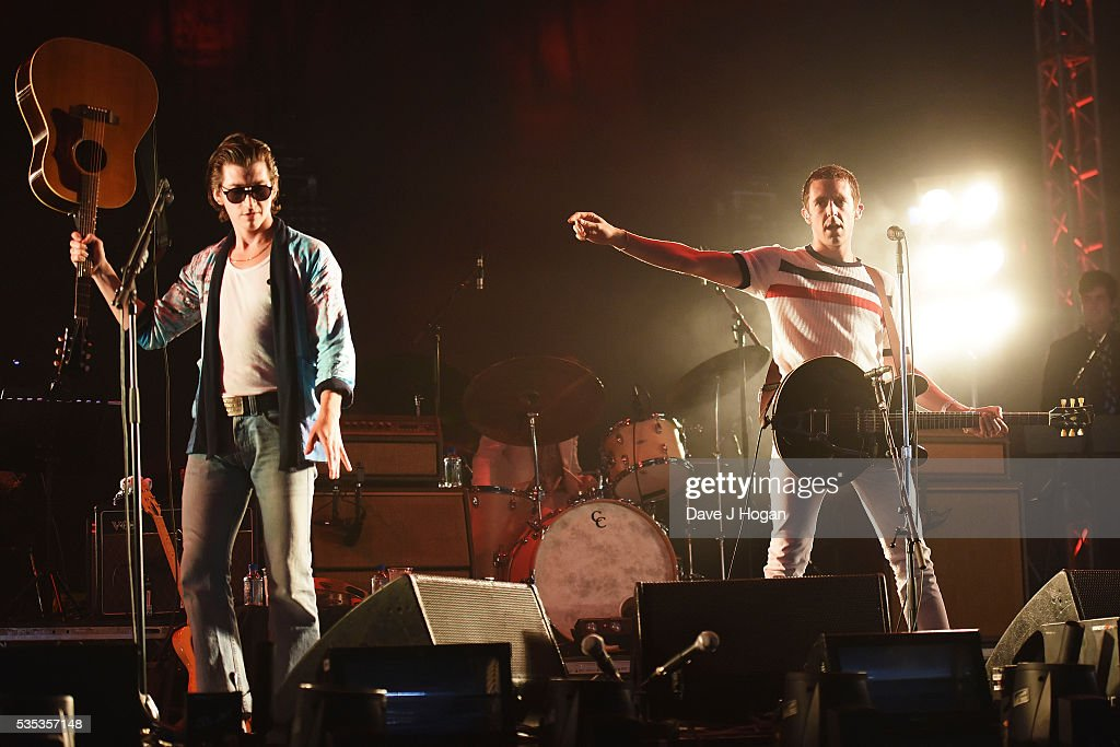 The Last Shadow Puppets perform during day 2 of BBC Radio 1's Big Weekend at Powderham Castle on May 29, 2016 in Exeter, England.