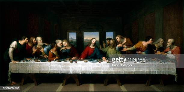 'The Last Supper' 1803 A copy of the famous painting by Leonardo da Vinci in the 1490s