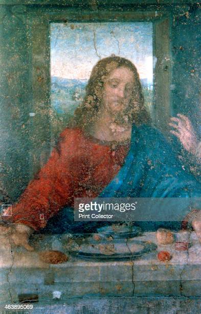 'The Last Supper' Detail 14951498 Jesus with the twelve apostles The painting is a mural commissioned by Lodovico Sforza Duke of Milan for the...