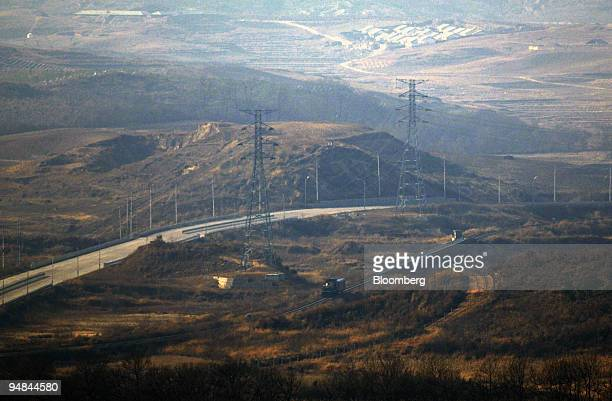 The last train between South and North Korea pass through the Demilitarized Zone of Paju South Korea on Friday Nov 28 2008 North Korea has said it...
