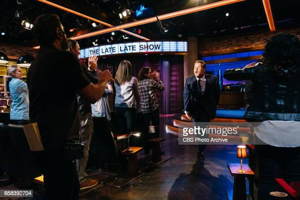 The Late Late Show with James Corden airing Thursday March 23 with guests Jenna Elfman Terrence Howard and Nicole Scherzinger Pictured Mike Schiff...