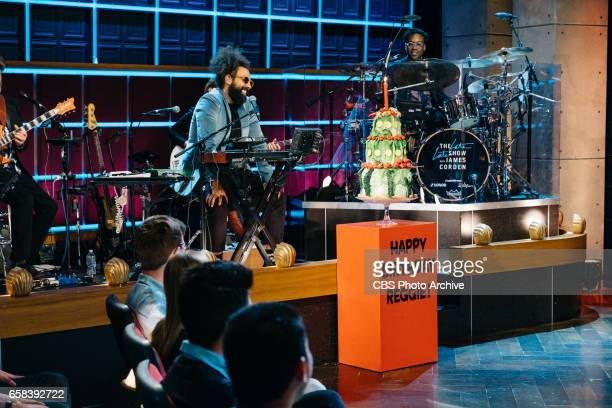 The Late Late Show with James Corden airing Thursday March 23 with guests Jenna Elfman Terrence Howard and Nicole Scherzinger Pictured Reggie Watts...