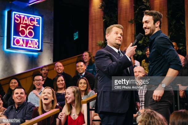 The Late Late Show with James Corden airing Thursday March 23 with guests Jenna Elfman Terrence Howard and Nicole Scherzinger Pictured James Corden