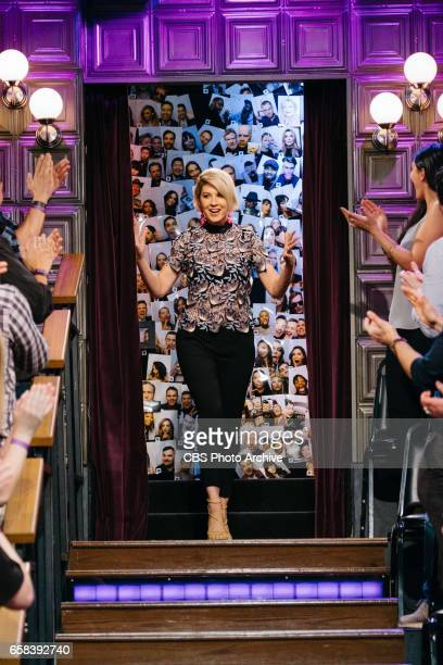 The Late Late Show with James Corden airing Thursday March 23 with guests Jenna Elfman Terrence Howard and Nicole Scherzinger Pictured Jenna Elfman