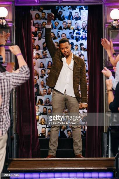 The Late Late Show with James Corden airing Thursday March 23 with guests Jenna Elfman Terrence Howard and Nicole Scherzinger Pictured Terrence Howard