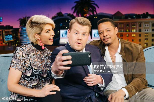 The Late Late Show with James Corden airing Thursday March 23 with guests Jenna Elfman Terrence Howard and Nicole Scherzinger