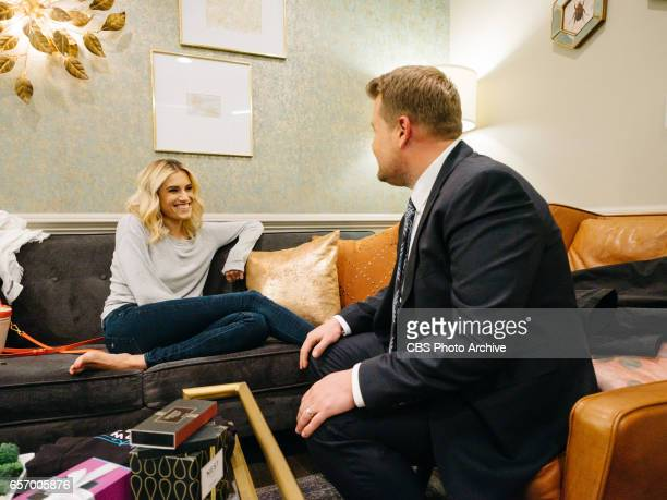 The Late Late Show with James Corden airing Tuesday March 21 with guests Allison Williams Darren Criss and The Band Perry Pictured Allison Williams...