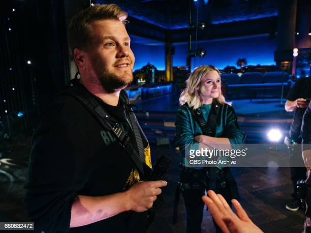 The Late Late Show with James Corden airing Tuesday March 28 with guests Kristen Bell and Cheryl Hines Pictured James Corden and Kristen Bell