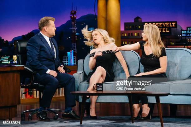 The Late Late Show with James Corden airing Tuesday March 28 with guests Kristen Bell and Cheryl Hines