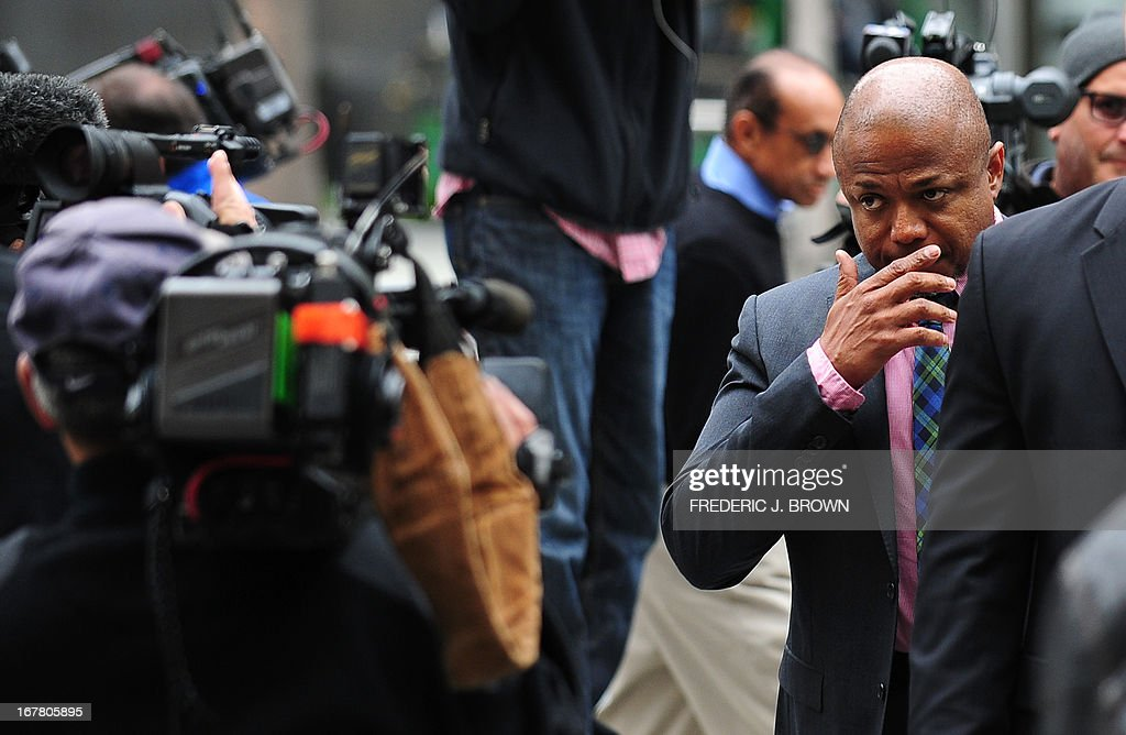 The late Michael Jackson's brother Randy Jackson arrives at court on the second day of the trial pitting Katherine Jackson, mother of the late singer, against concert promoters AEG Live in Los Angeles on April 30, 2013. AFP PHOTO/Frederic J. BROWN