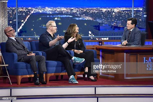 The Late Show with Stephen Colbert 9/24/2015 Andrew Sullivan Jim Gaffigan Maria Shriver talk with host Stephen Colbert about being Catholic