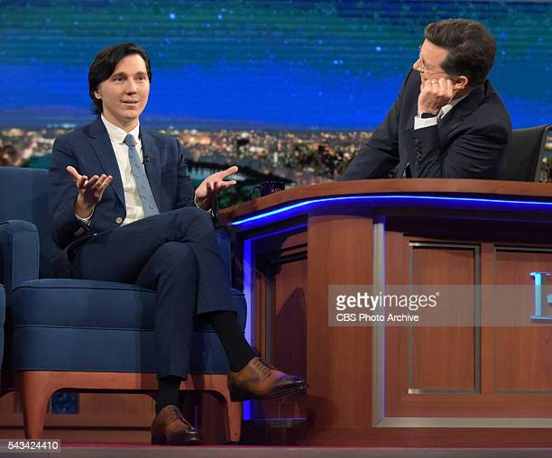 The Late Show With Stephen Colbert Actor Paul Dano talks with host Stephen Colbert about his current film role during taping for the 6/23/16 show in...