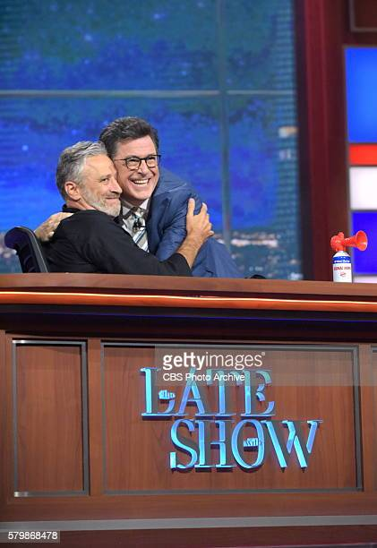 The Late Show with Stephen Colbert airing live Thursday July 21 2016 in New York With guest Jon Stewart