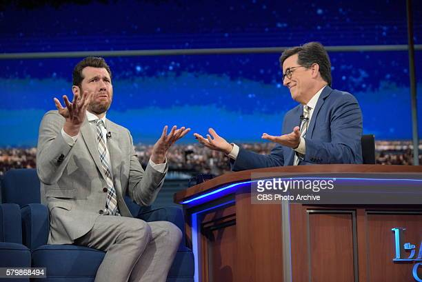 The Late Show with Stephen Colbert airing live Thursday July 21 2016 in New York With guest Billy Eichner