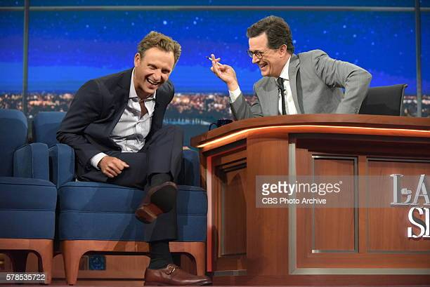 The Late Show with Stephen Colbert airing live Wednesday July 20 2016 in New York With guest Tony Goldwyn