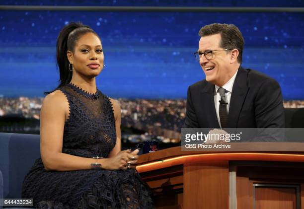 The Late Show with Stephen Colbert airing Monday February 13 2017 with Laverne Cox