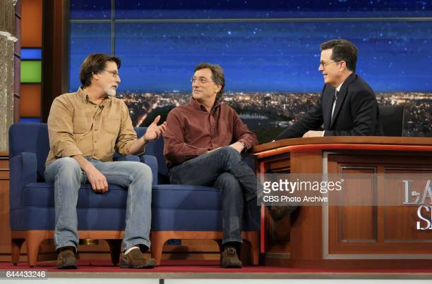 The Late Show with Stephen Colbert airing Monday February 13 2017 with Treasure Hunters Rick Marty Lagina